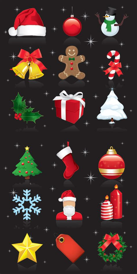4 designer exquisite christmas ornaments vector