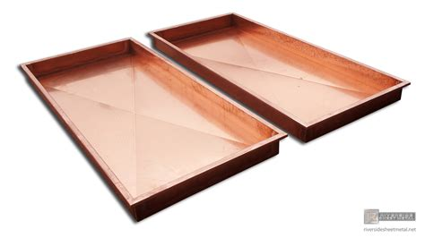 cuisine metal copper trays for food sheet metal fabrication ma