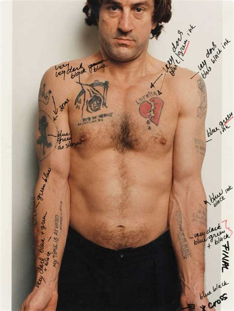 Martin Scorsese's notes on Robert De Niro's tattoos in ...