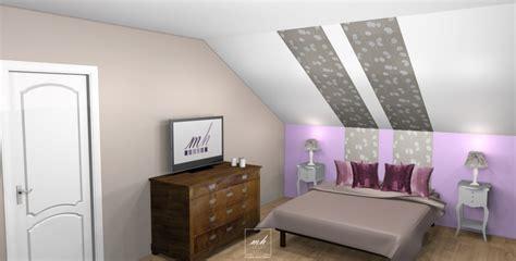 couleur mur chambre ado fille chambre et salle de bain sous combles mh deco