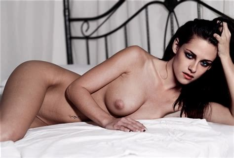 Kristen Stewart Nude Naked Bed Boobs Big Tits Pussy