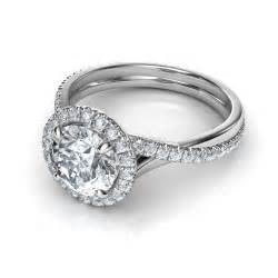 pave engagement ring pave halo twisted shank engagement ring