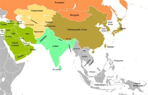 Asien Karte Deutsch