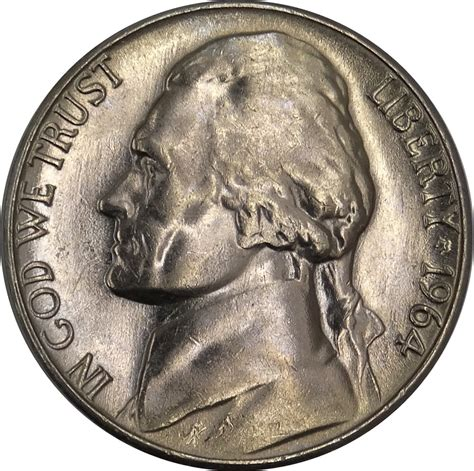 1964 nickel value gotocoinauction a coinzip company 1964 d jefferson nickel