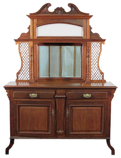 antique sideboards with mirrors antique walnut mirror buffet sideboard server 4131