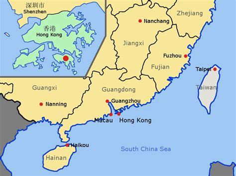cool hong kong china map holidaymapq pinterest