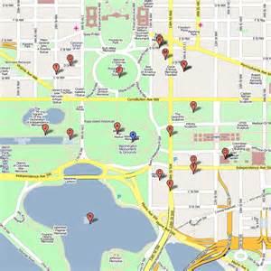 Washington DC Monuments Map