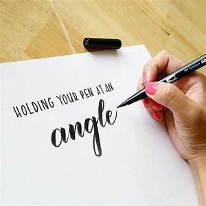 Best 25 brush pen ideas on pinterest brush lettering for Calligraphy pen letters