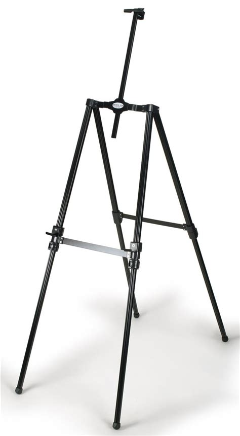 black aluminum easel height adjustable  top clamp