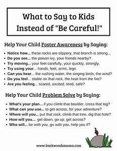 "Stop Telling Kids to ""Be Careful"" and What To Say Instead ..."