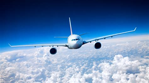 pictures airplane passenger airplanes sky flight clouds