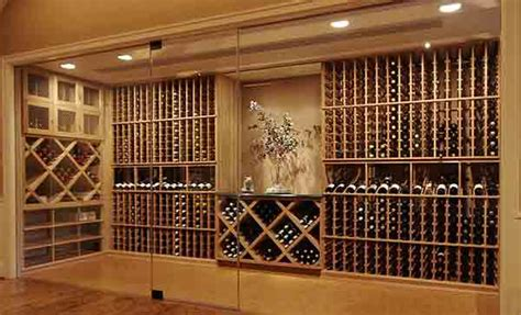 glass enclosed wine cellars