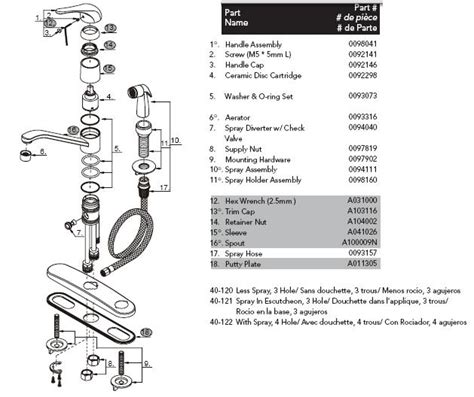 how to repair single handle kitchen faucet alluring gerber 40 122 kitchen faucet parts at glacier bay