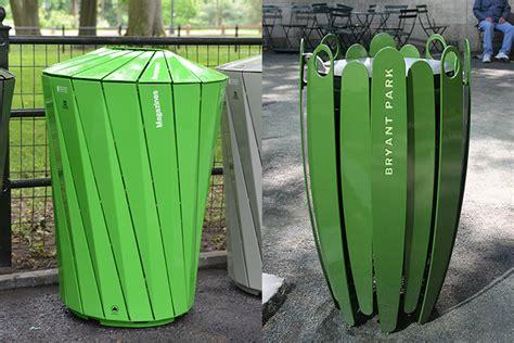 designer trash can custom made designer trash bins pop up in nyc parks