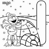 Coloring Pages Igloo Elmo Sesame Street Letter Alphabet Abc Printable sketch template
