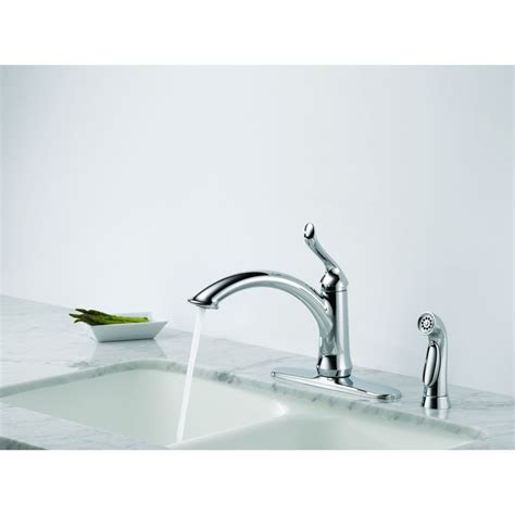 Delta Linden Faucet 4453 Ss Dst by Delta Faucet 4453 Dst Linden Polished Chrome One Handle
