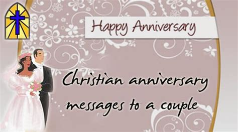 christian anniversary messages   couple
