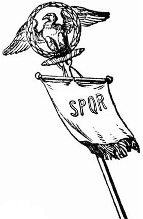 spqr vexillum  ancient rome army coloring page netart