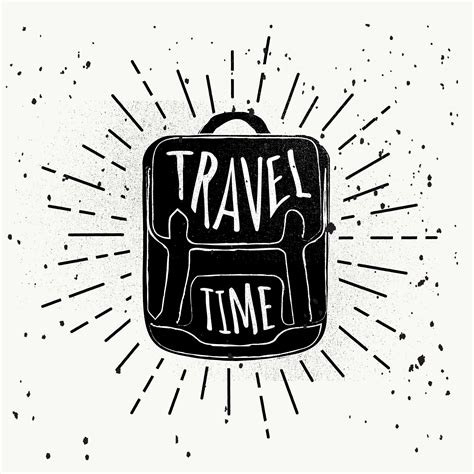 hand drawn travel vector background