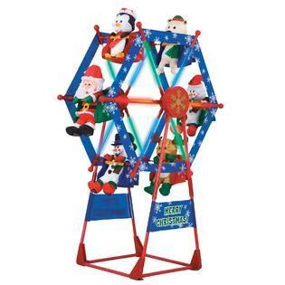 simply christmas 7 ft ferris wheel w spotlight