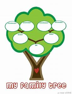 Family tree template family tree templates for kindergarten for Preschool family tree template