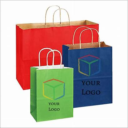 Paper Bags Bag Shopping Custom Boxes Colored