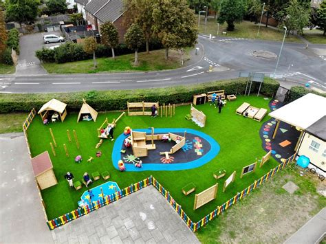 bright sparks preschool s playground design pentagon play 764   playground equipment uk