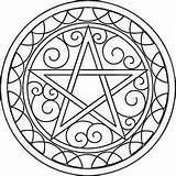 Coloring Pentacle sketch template