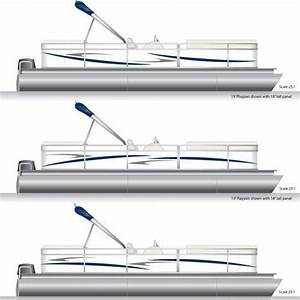 navy blue smoke gray pontoon boat graphics and decals With pontoon boat lettering