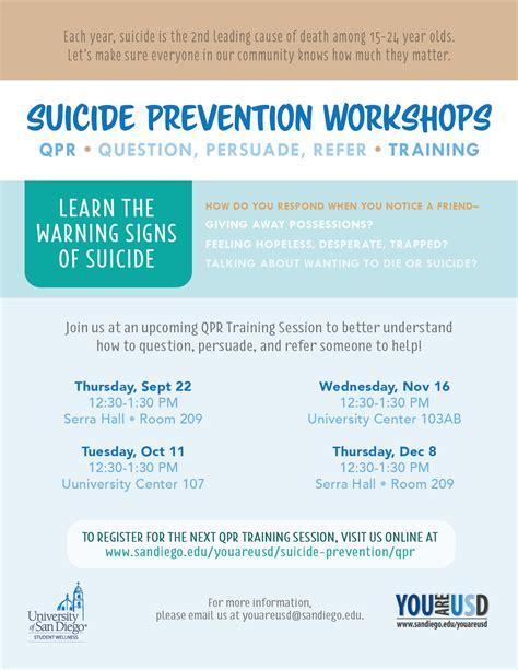 qpr suicide prevention training   usd suicide