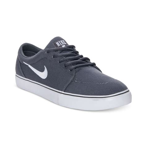 nike satire low canvas casual sneakers in gray for