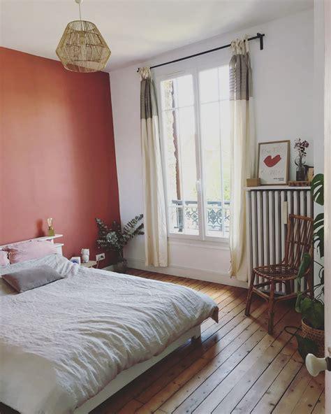 chambre terracota en  deco chambre couleur mur