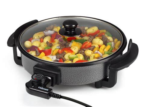 poele electrique cuisine poêle électrique avec couvercle 30 cm tristar pz 2963