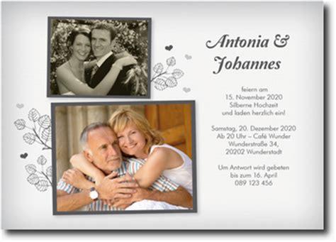 einladung hochzeit gestalten silberhochzeit einladungskarten mit foto selber gestalten