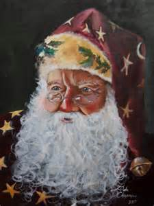Old World Christmas Santa Painting
