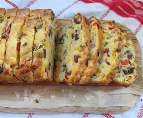cake au jambon olives  poivrons au thermomix la
