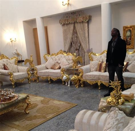 Psquare Relaxing In Luxury In Gold Mansion Information
