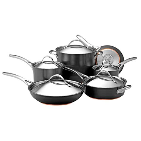 cookware copper nonstick induction anolon amazon anodized nouvelle piece hard gray dark pan flavorstone buying sapphire guide availability check