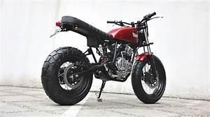 Racing Caf U00e8  Yamaha Scorpio  U0026quot The Red Tracker U0026quot  By Studio Motor