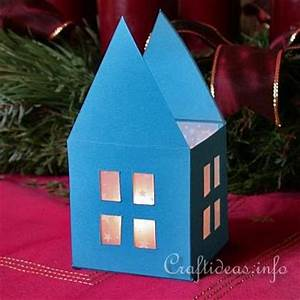 Christmas Paper Crafts Tea Light House