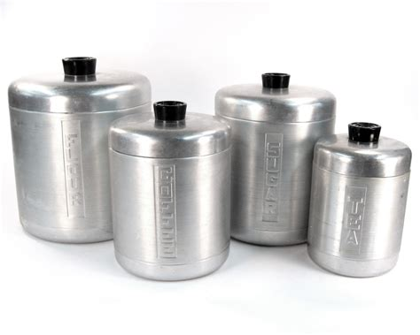 antique kitchen canisters vintage kitchen canister set aluminum 1940 kitchen by