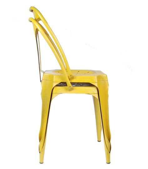 chaise style industriel industrial style chair in yellow vintage metal wadiga com