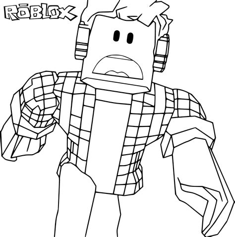 Roblox Roblox Kleurplaat roblox free coloring pages