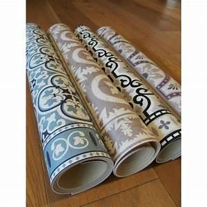 Tapis Vinyl Imitation Carreaux De Ciment : tapis vinyle pvc motifs carreaux de ciment bleus vintage ~ Zukunftsfamilie.com Idées de Décoration