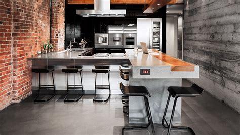 cuisine de loft cuisine gaggenau de luxe