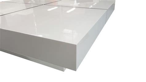table basse design de salon carr 233 e laqu 233 e blanche gdegdesign