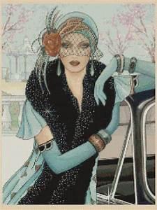 Harlem Renaissance Chart Cross Stitch Chart Art Deco Lady 42 New Ebay Art