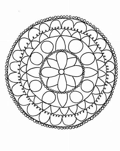 Coloring Pages Mandalas Craftsy Patterns Paper