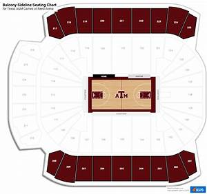 Reed Arena Seating Chart Reed Arena Seating For Texas A M Basketball