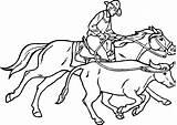 Coloring Roping Printable Cowboy Western Sheets Cowboys sketch template